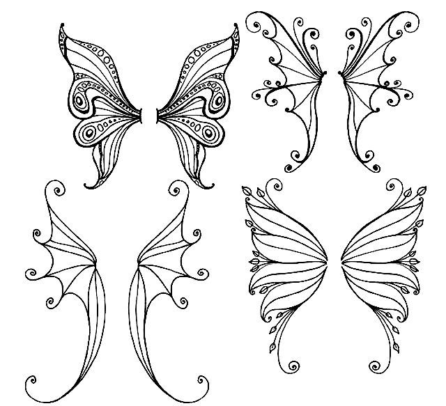 fairy wings coloring double fairy wings coloring page free printable coloring wings coloring fairy