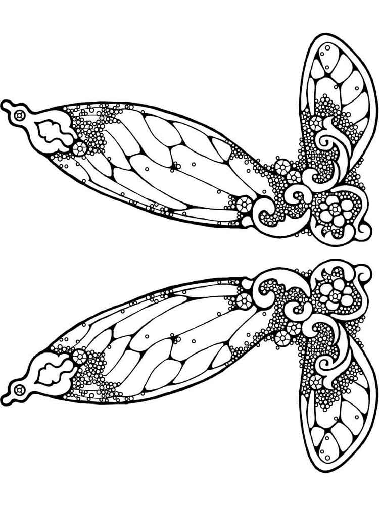 fairy wings coloring fairy wing with pattern coloring page free printable fairy wings coloring
