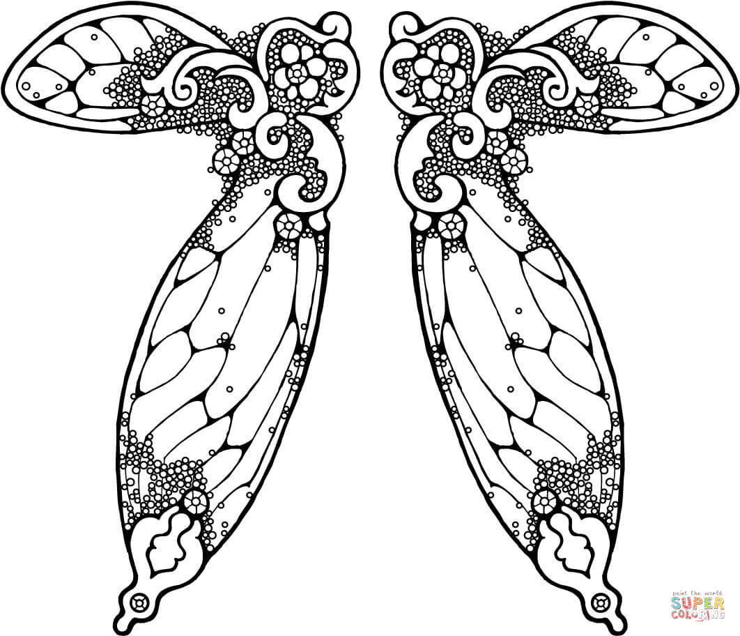 fairy wings coloring fairy wings coloring pages free printable fairy wings fairy coloring wings