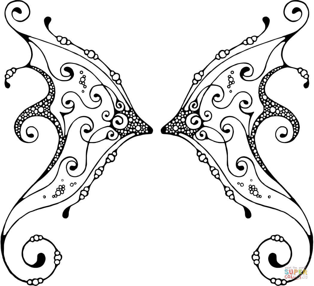 fairy wings coloring fairy wings coloring pages free printable fairy wings wings fairy coloring 1 1