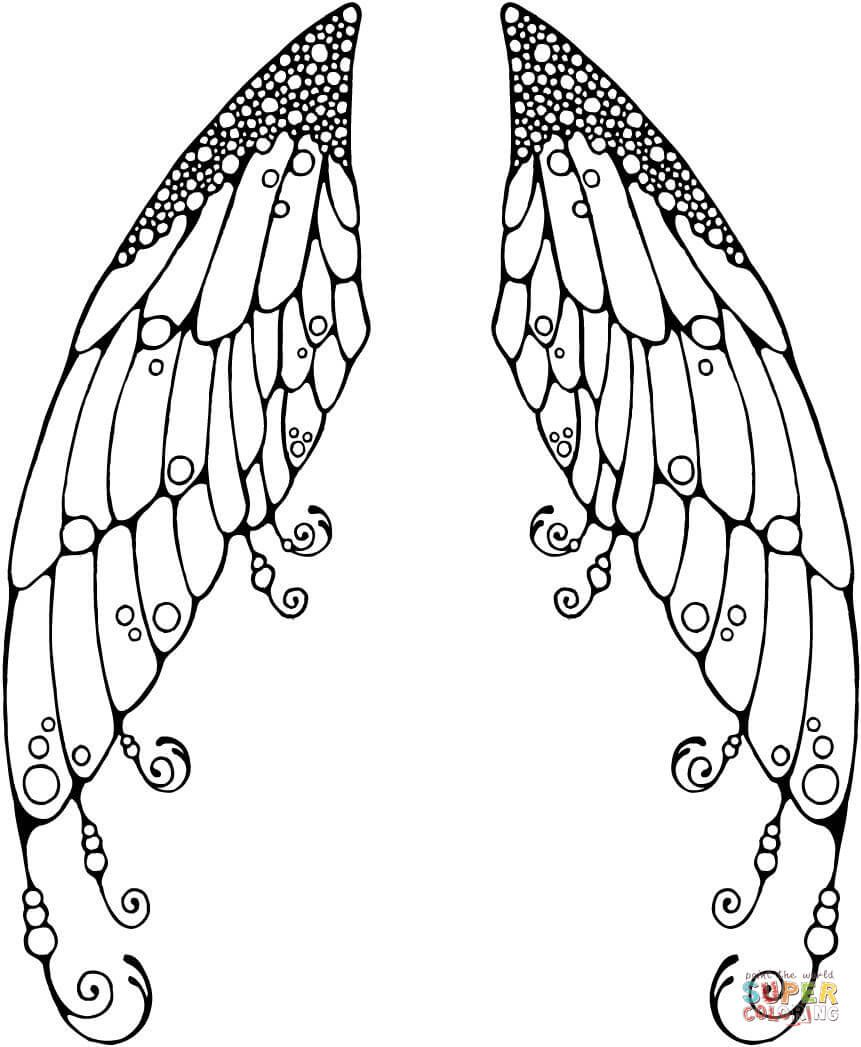 fairy wings coloring fairy wings template clipart panda free clipart images fairy wings coloring
