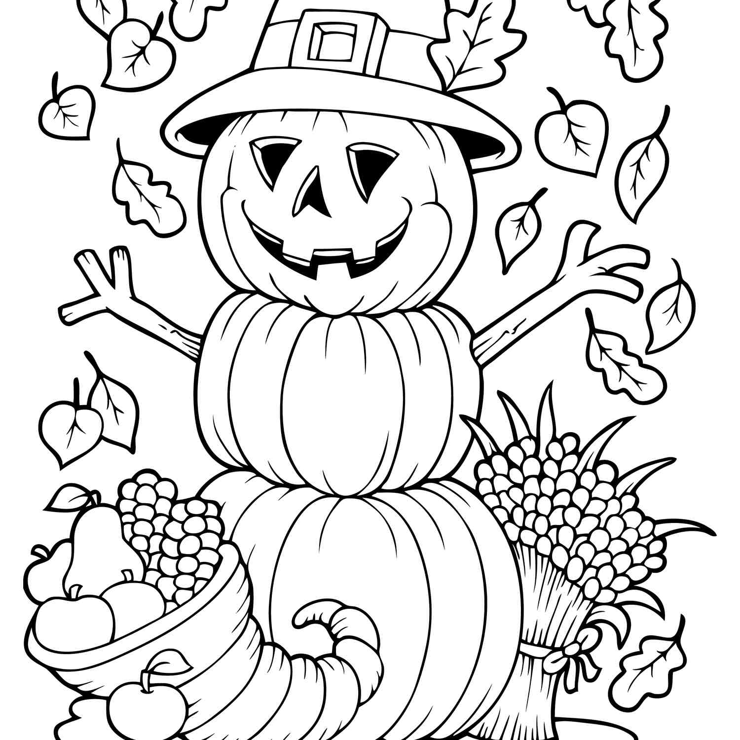 fall coloring sheets free fall things coloring pages for kids autumn printables sheets coloring free fall