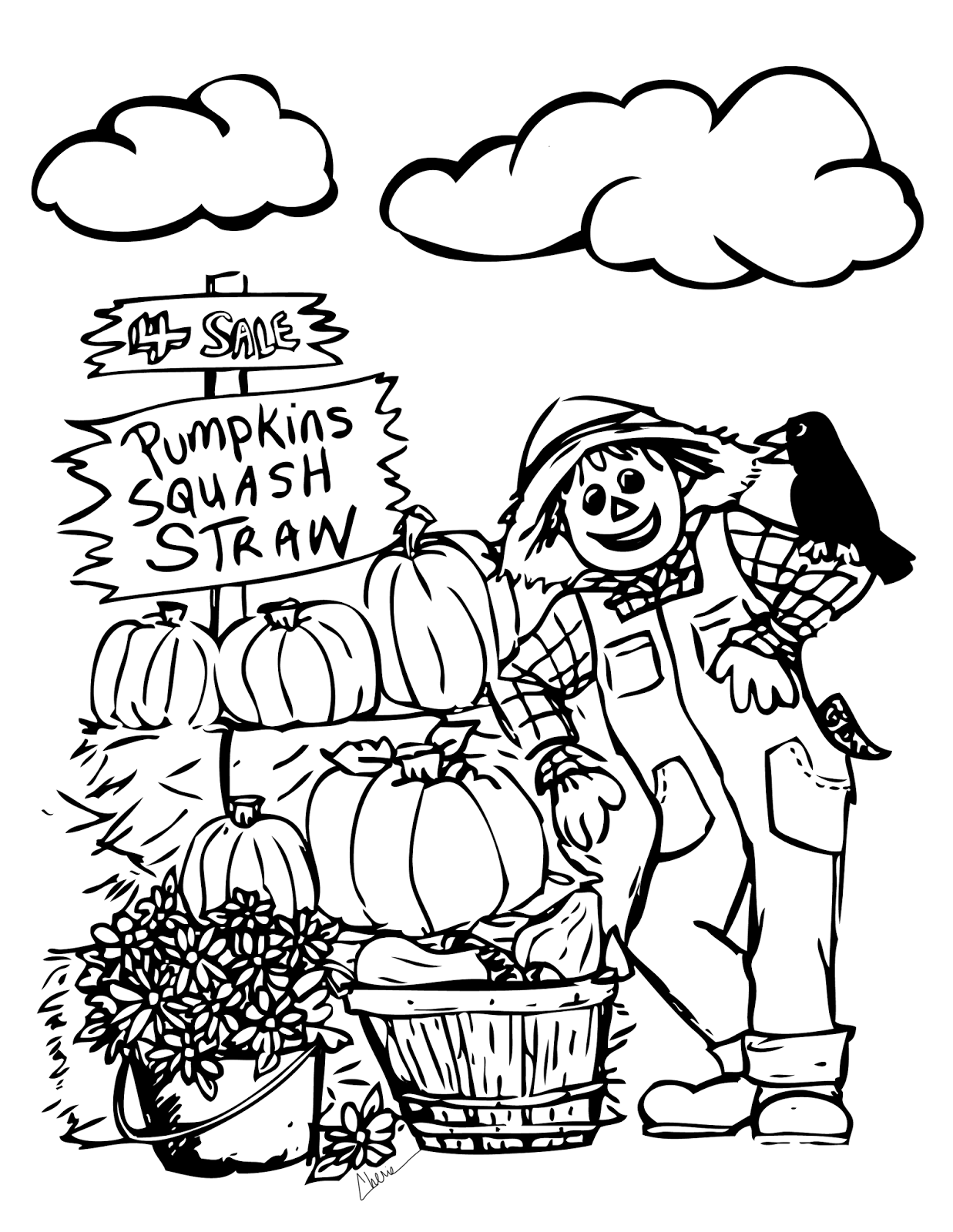 fall coloring sheets free free fall printable coloring page flower patch farmhouse sheets free coloring fall