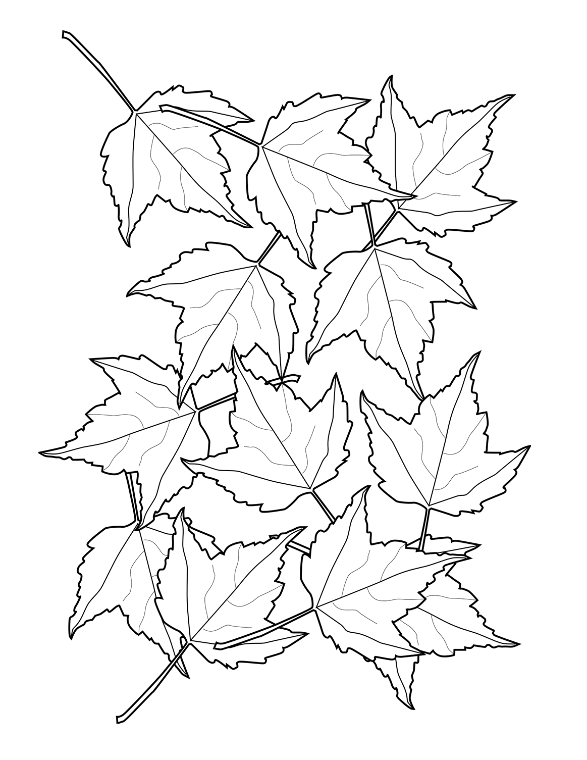 fall leaves coloring sheets coloring in the lines twineandtable coloring leaves fall sheets