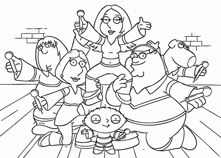 family guy coloring other characters in family guy coloring page kids play color family coloring guy
