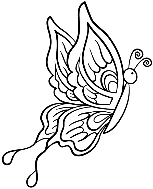 Fancy butterfly coloring pages