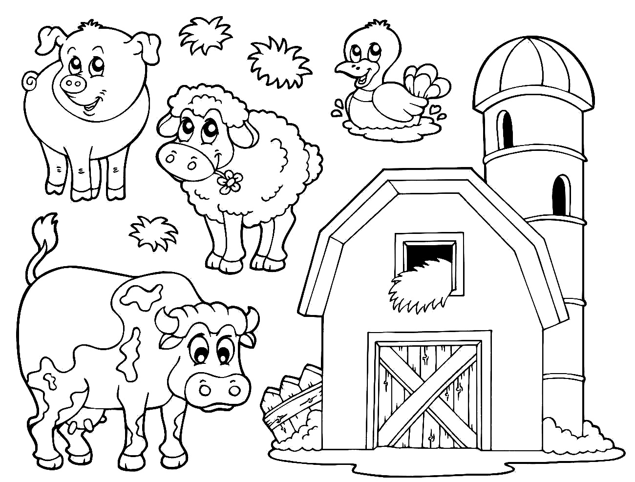 farm coloring book farm scene coloring pages at getcoloringscom free book coloring farm