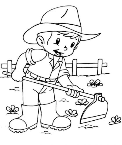 farmer coloring image couple of farmer in the farm coloring page coloring sky image farmer coloring
