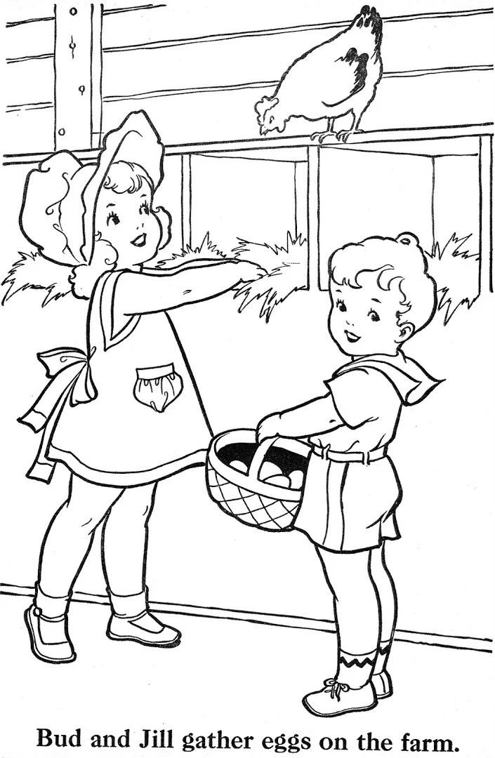 farmer coloring image farmer coloring page for kids stock illustration coloring image farmer