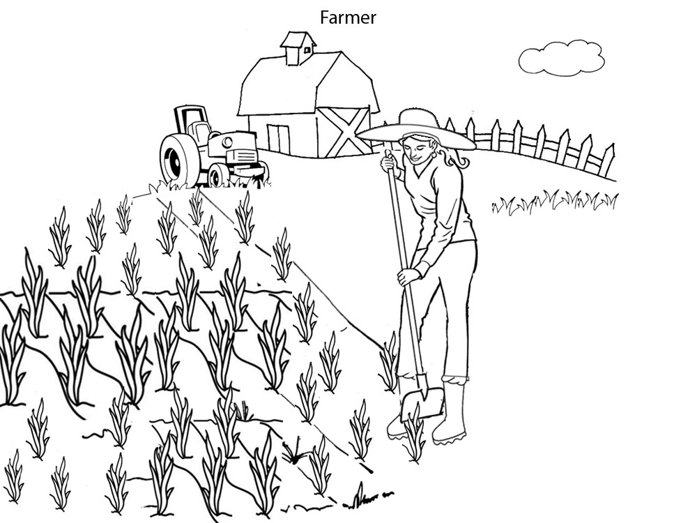 farmer coloring image farmer colouring page mummypagesie farmer image coloring