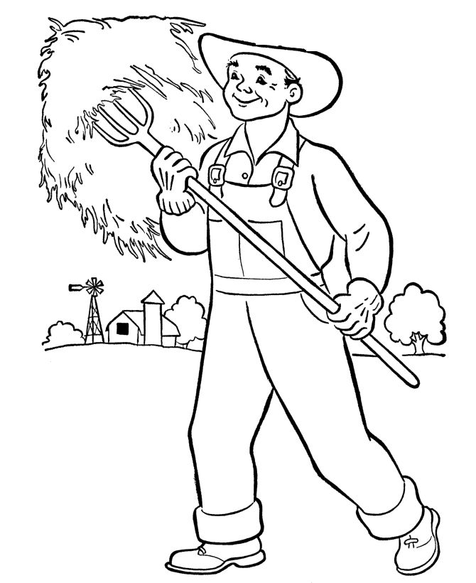 farmer coloring image free printable farmer colouring pages farmer image coloring
