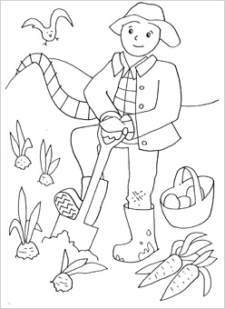 farmer coloring image people coloring pages mr printables farmer image coloring