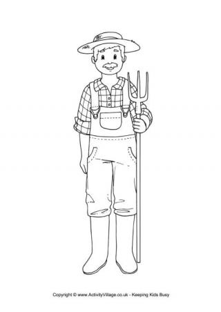 farmer coloring image people who help us colouring pages coloring farmer image