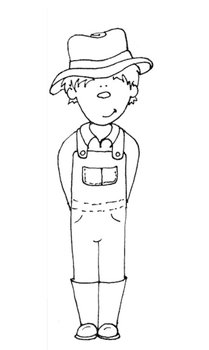 farmer coloring image printable coloring sheet farmer boy by saved by grace tpt farmer coloring image