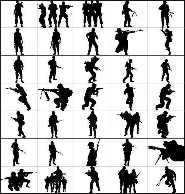 female soldier silhouette army photoshop brushes soldiers silhouettes photoshop silhouette soldier female