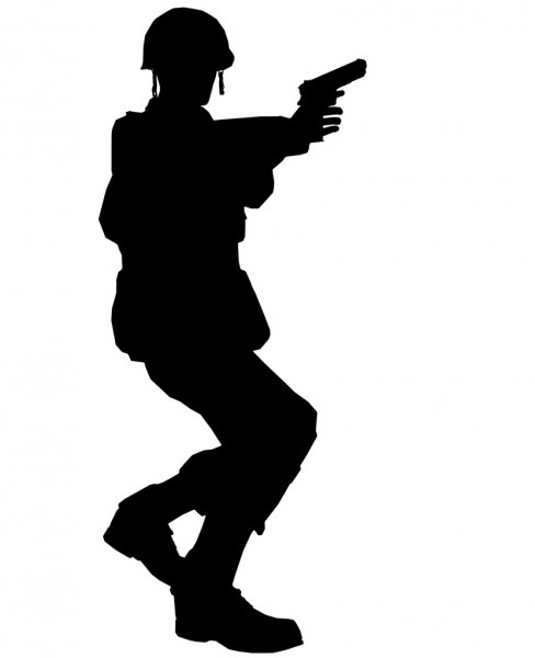 female soldier silhouette female soldier silhouette free vector silhouettes silhouette female soldier