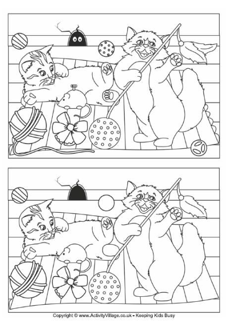 Find the difference puzzles printable