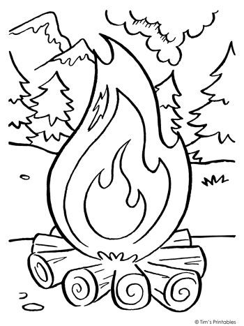 fire coloring pages camping fire coloring page 350 tim39s printables pages fire coloring