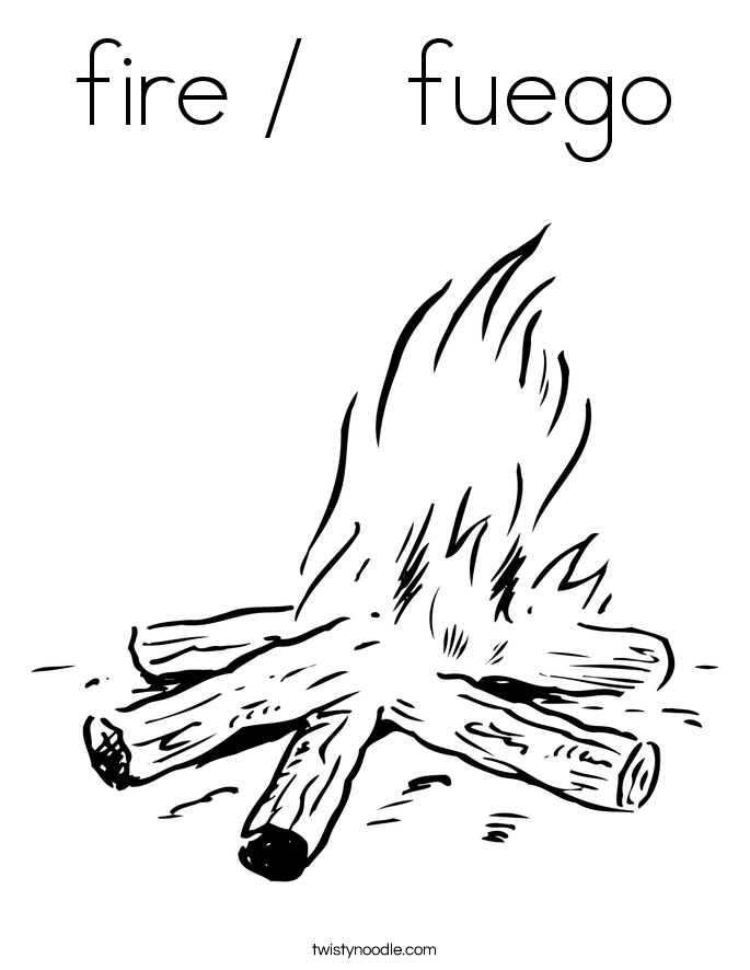 fire coloring pages cartoon clipart of a happy fire mascot vector outlined pages coloring fire