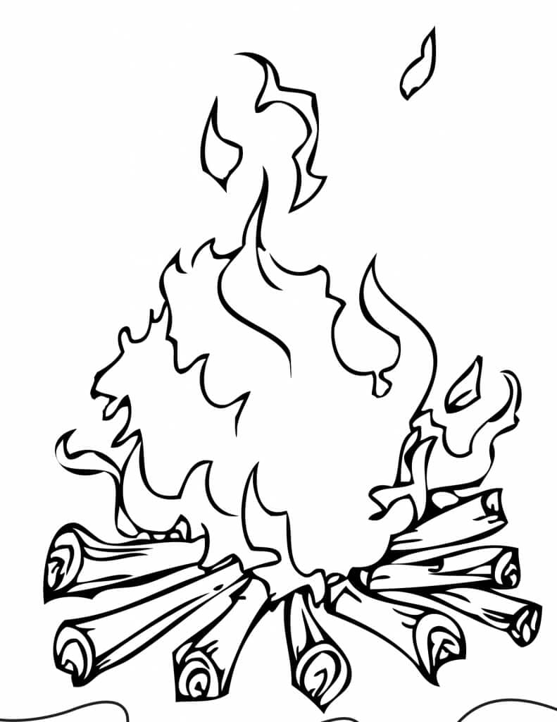fire coloring pages free printable camping coloring pages fire pages coloring