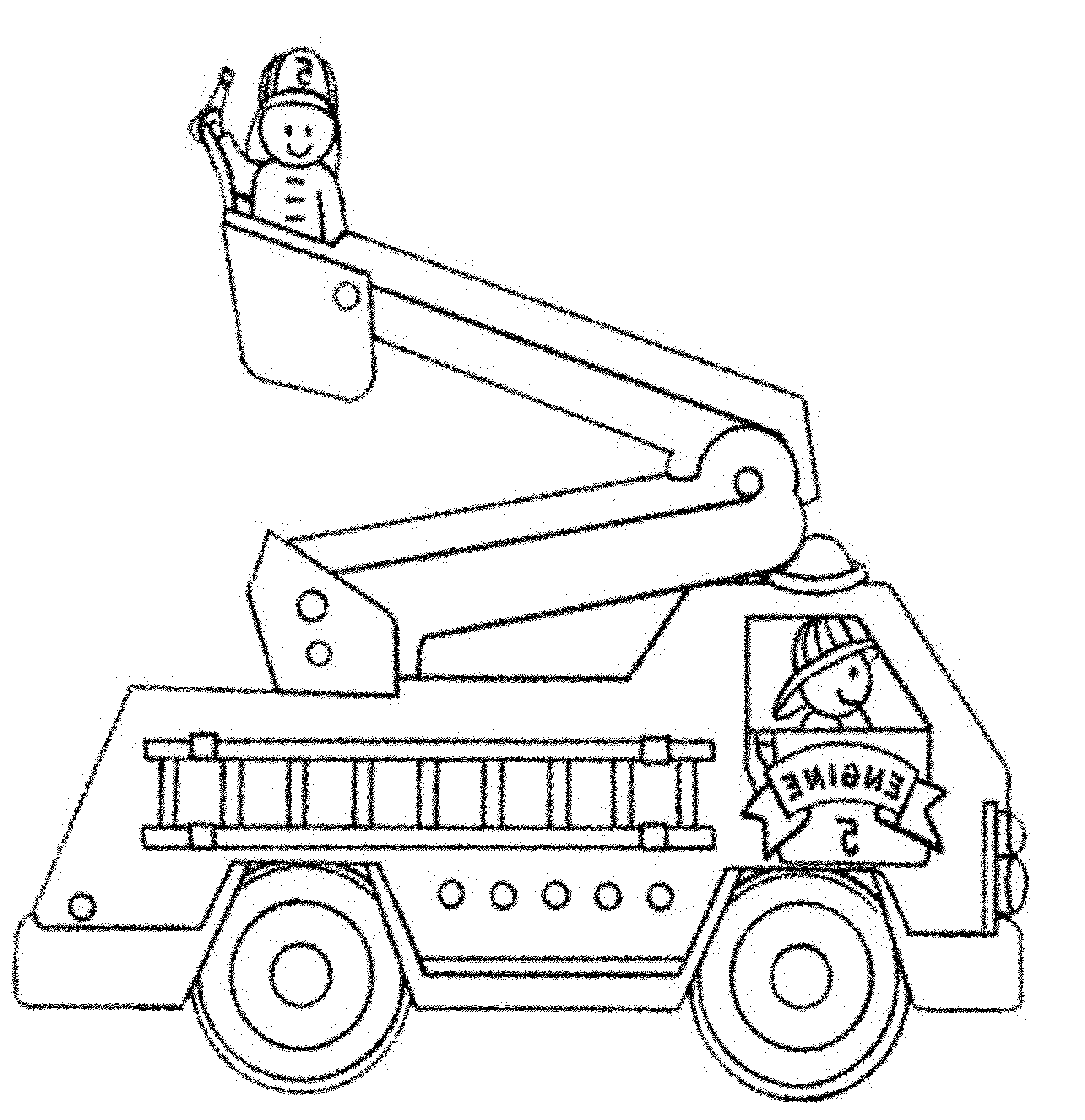 Fire truck coloring sheets