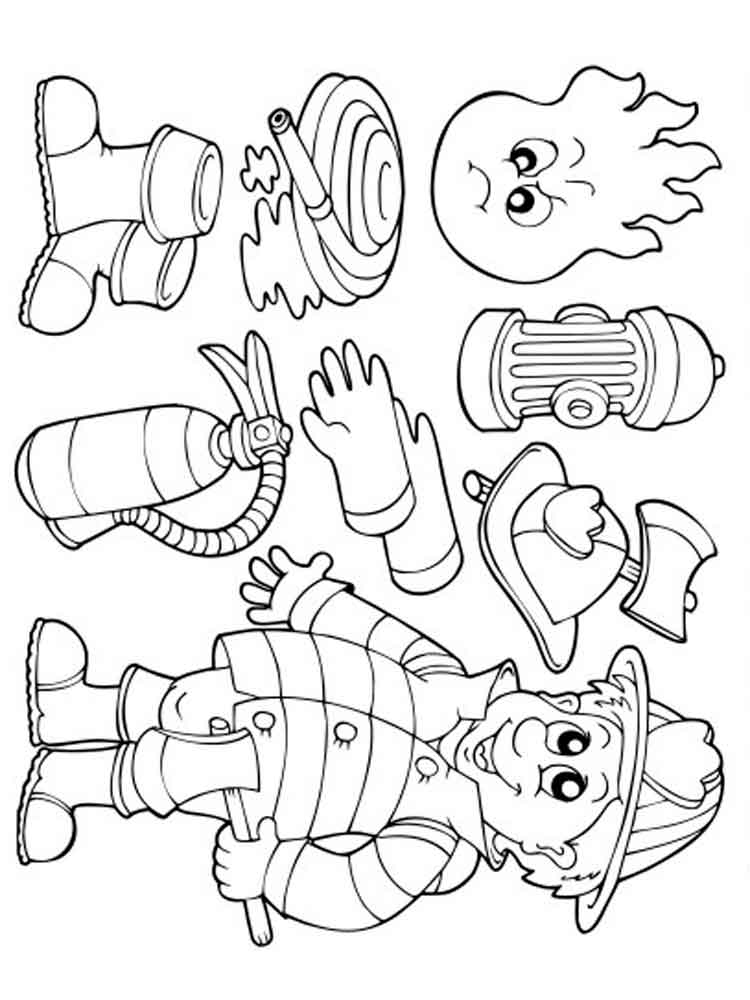 fireman coloring pages firefighter coloring pages free printable firefighter pages fireman coloring 1 1