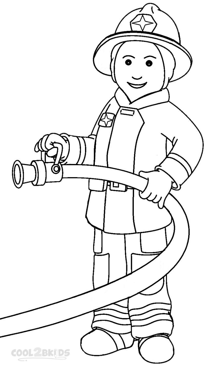 fireman coloring pages firefighters coloring pages coloring fireman pages