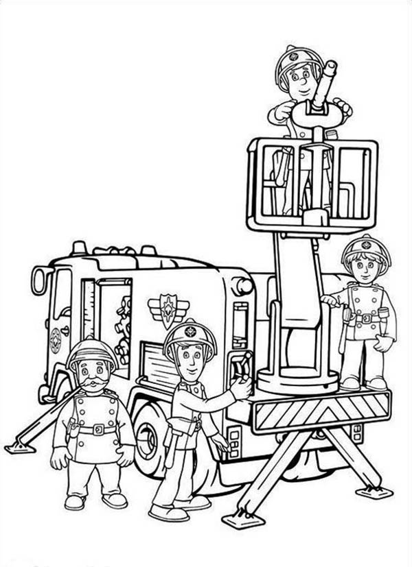 fireman coloring pages fireman sam and all fontypandys officer at fire fighting pages fireman coloring