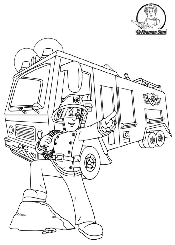 fireman coloring pages fireman sam coloring pages to download and print for free fireman pages coloring
