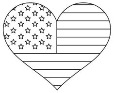 flag heart coloring page american flag heart coloring pages 1000 ideas about heart page flag coloring