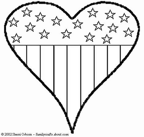 flag heart coloring page american flag heart coloring pages billy gorilly stars and coloring page heart flag
