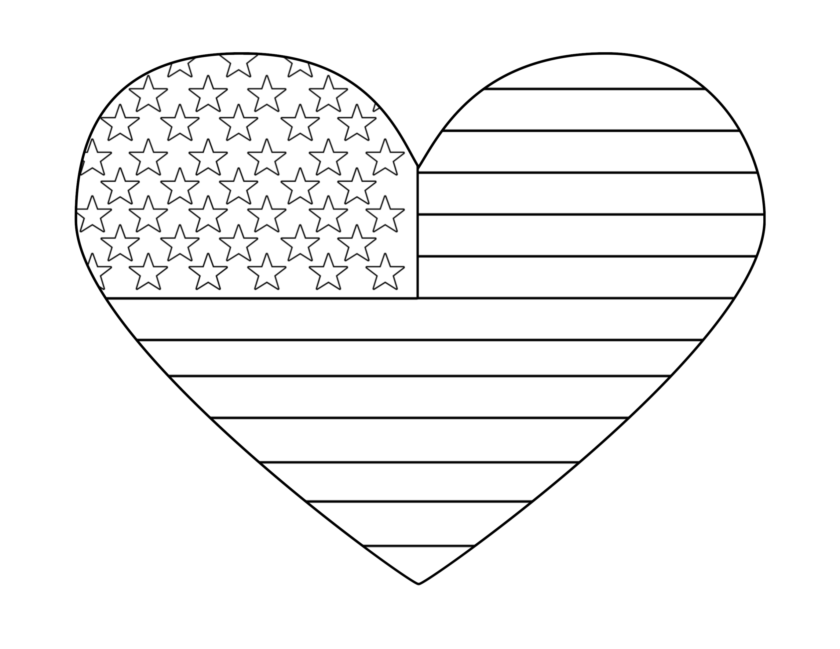 flag heart coloring page american flag heart coloring pages holiday 4th of july page heart coloring flag