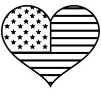 flag heart coloring page american flag heart coloring sheet printable pdf download flag coloring page heart