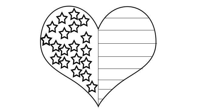 flag heart coloring page free printable 4th of july coloring pages paper trail design coloring heart page flag