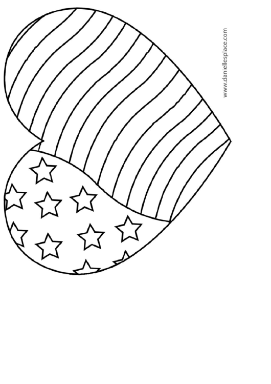 flag heart coloring page heart coloring pages patriotic heart 2 coloring page coloring flag heart page