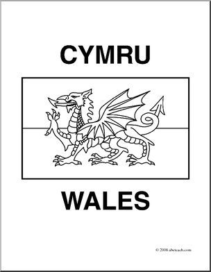 flag of wales to colour clip art flags wales coloring page abcteach flag to wales of colour