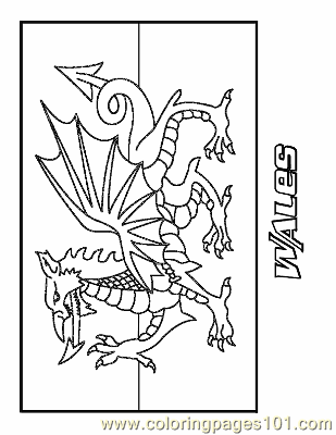 flag of wales to colour coloring pages wales education gt flags free printable flag to wales colour of