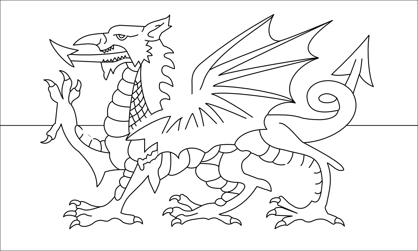 flag of wales to colour wales coloring page crayolacom colour to of flag wales