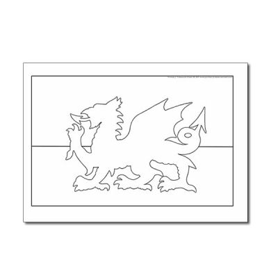 flag of wales to colour wales flag coloring picture of colour flag to wales