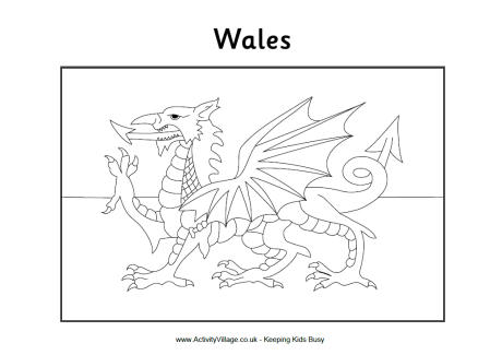 flag of wales to colour wales teaching resources ks1 2 welsh language uk geography wales of colour to flag