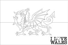 flag of wales to colour welsh dragon coloring pages at getcoloringscom free flag wales to colour of