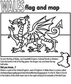 flag of wales to colour welsh dragon colouring page colour flag wales to of
