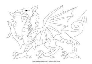 flag of wales to colour welsh dragon colouring page with images flag coloring of flag wales to colour