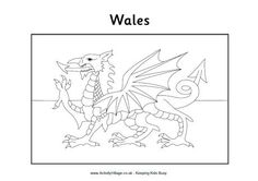 flag of wales to colour welsh flag coloring pages colour of flag to wales
