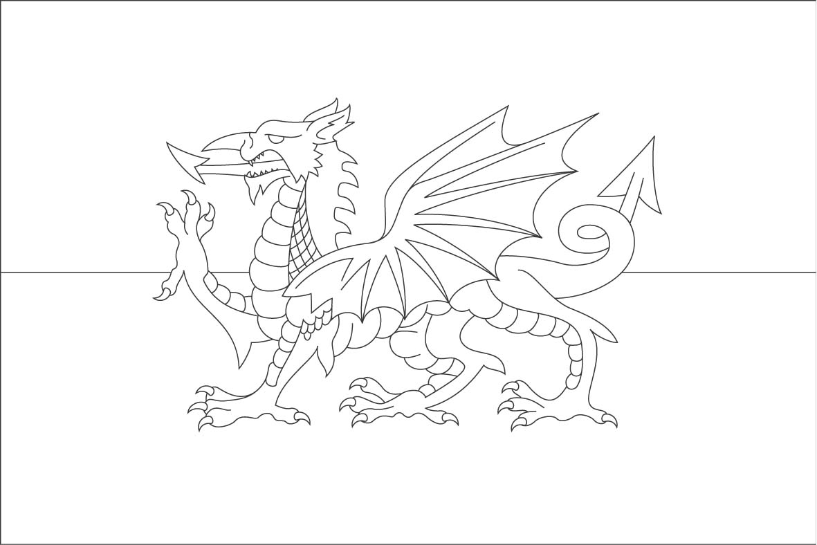 Flag of wales to colour