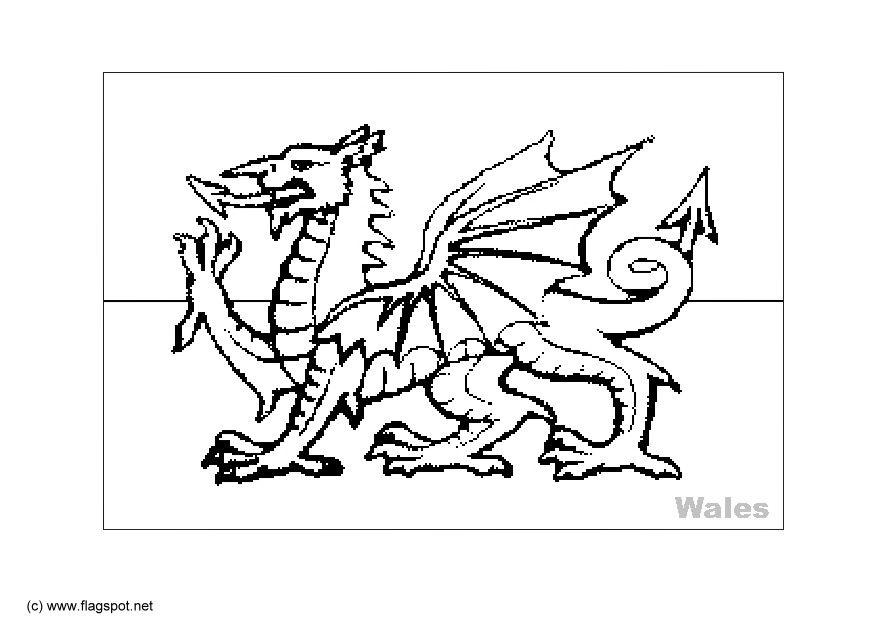 flag of wales to colour welsh flag colouring sheet welsh resources teaching colour flag to of wales