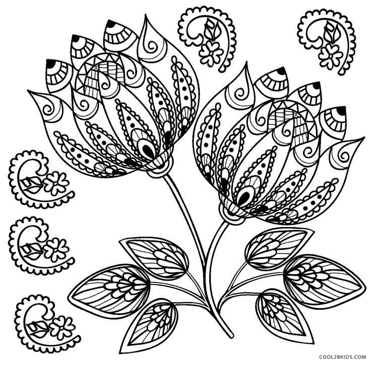 flower coloring pages adults adult coloring a tangle of flowers set of 8 by emerlyearts adults pages flower coloring