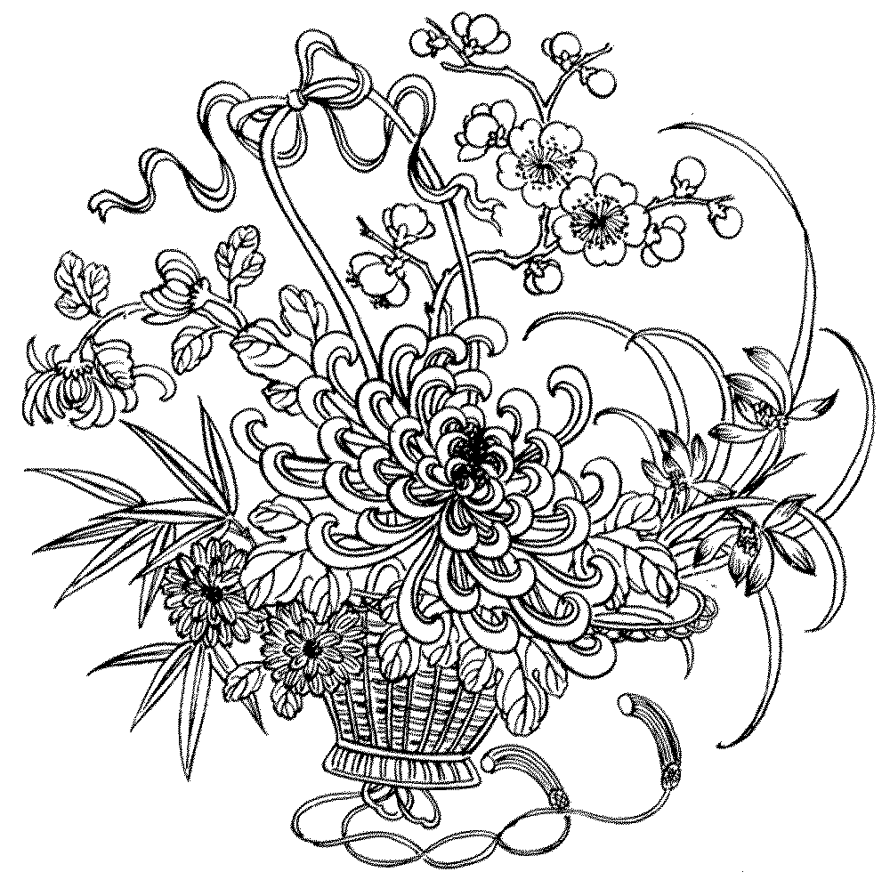 flower coloring pages adults adult coloring pages flowers adults coloring flower pages