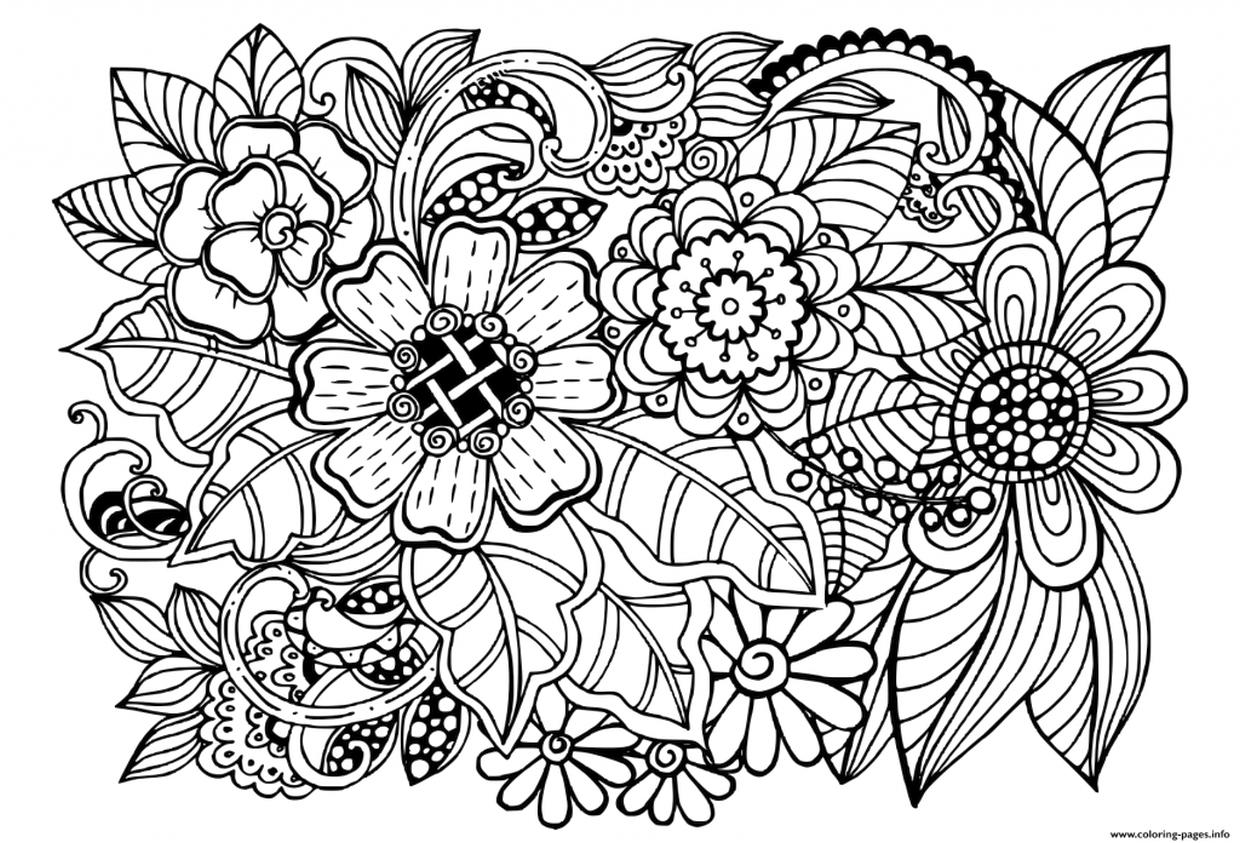 flower coloring pages adults adult coloring pages flowers to download and print for free flower pages coloring adults