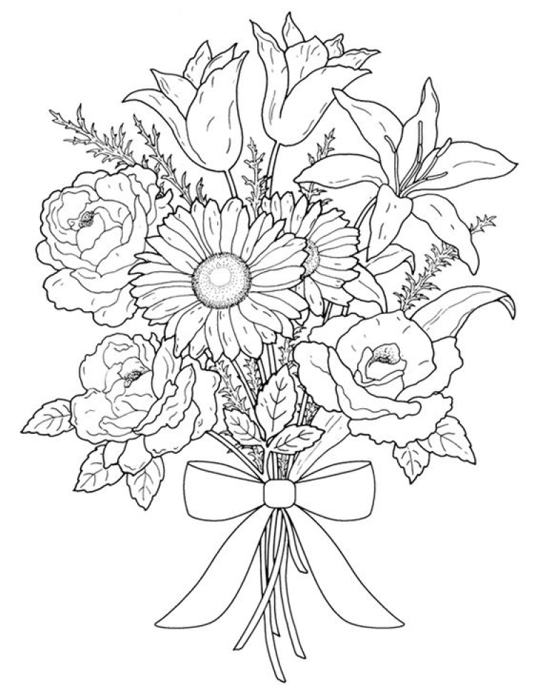 flower coloring pages adults detailed flower coloring pages to download and print for free pages coloring adults flower